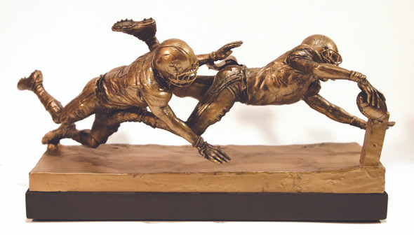 """Finish!"" - Small, Bronze-Finished Resin - Alabama Football 2015 National Champions (Kenyan Drake)"
