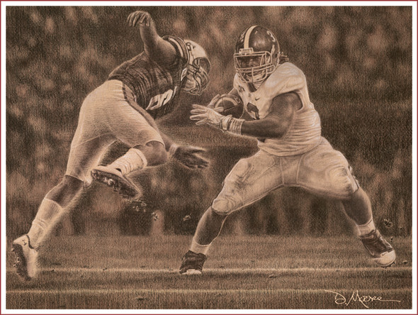 """Never Again"" - Pencil Drawing - Alabama Football vs. Auburn 2011 (Trent Richardson)"