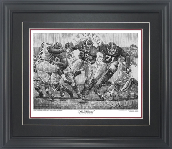 """The Blowout"" - Pencil Drawing - Alabama Football vs. Auburn 2008"
