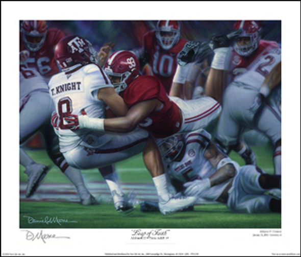 """Leap of Faith"" - Collegiate Classic 8x10 (Alabama Football vs. Texas A&M 2016)"