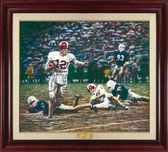 """Run In the Mud"" - Canvas Editions - Alabama Football vs. Auburn 1967 (Ken Stabler)"
