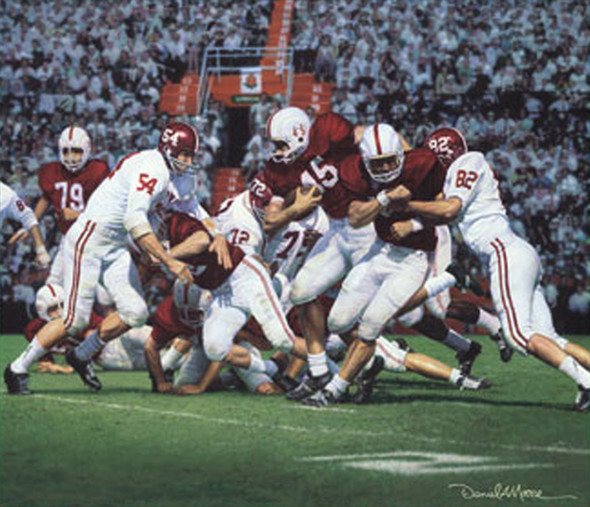 """Between the Lines"" - Canvas Editions - Alabama Football vs. Oklahoma 1963 (Lee Roy Jordan)"