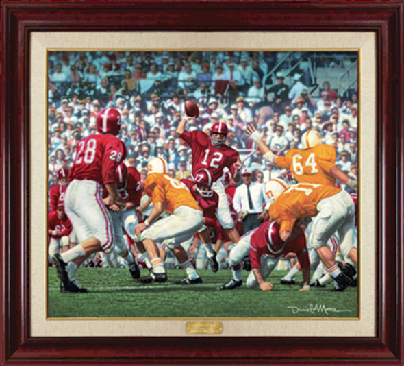 """Third Saturday Classic"" - Canvas Editions - Alabama Football vs. Tennessee 1962 (Joe Namath)"