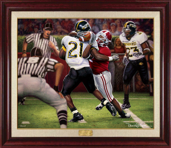 """The Catch"" - Canvas Editions - Alabama Football vs. Southern Mississippi 2005 (Tyrone Prothro)"