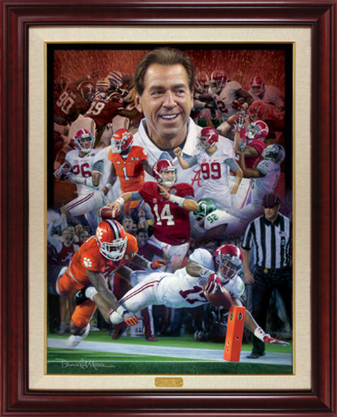 """Sweet Sixteen"" - Canvas Editions - Alabama Football 2015 National Champions"