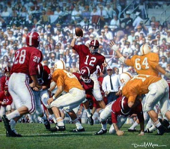 """Third Saturday Classic"" - Print Editions - Alabama Football vs. Tennessee 1962 (Joe Namath)"