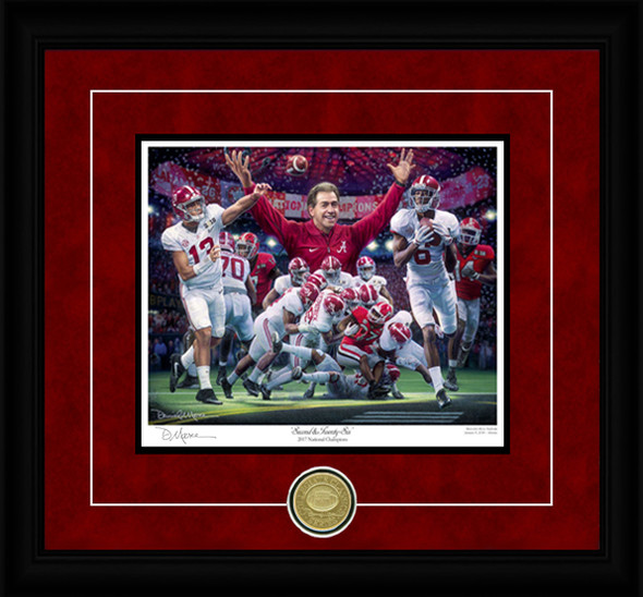 """Second & Twenty-Six"" - Collegiate Classic 8x10 - Alabama Football 2017 National Champions"