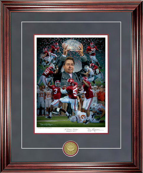 """A Crimson Tradition"" - Collegiate Classic 8x10 - Alabama Football 2009 National Champions"