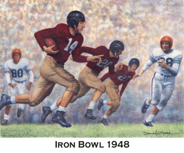 Iron Bowl Gold Prints - Alabama Football vs. Auburn (Unframed)