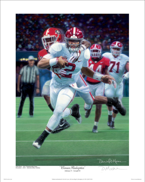 """Crimson Redemption"" - Collegiate Classic 8x10  Print - Alabama vs. Georgia - 2018 SEC Champions"