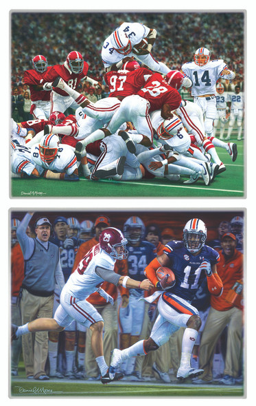 NEW! - Metallic Art Prints - Set of 2 - Auburn Football
