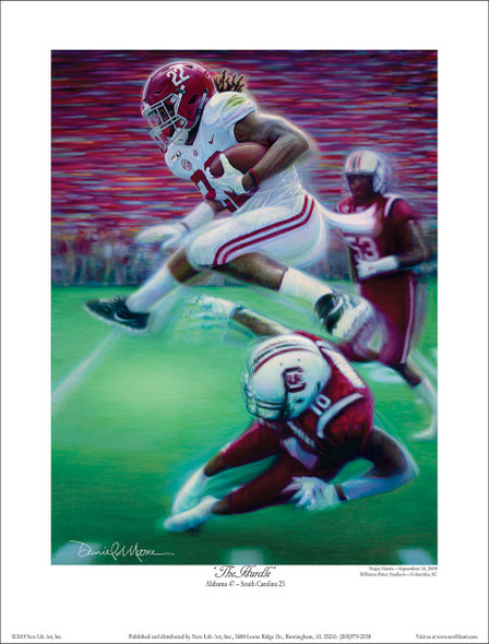 """The Hurdle"" - Collegiate Classic 8x10  Print"