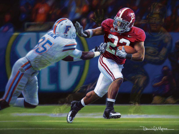 """The Heisman Spirit"" - Collegiate Classic 8x10 - Alabama Football 2009 SEC Champions (Mark Ingram)"