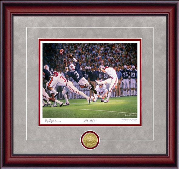 """The Kick"" - Collegiate Classic 8x10 - Alabama Football vs. Auburn 1985 (Van Tiffin)"