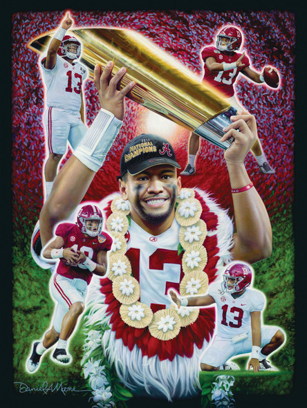 """Mahalo, Tua!"" - Limited Edition Canvases - Alabama Football"