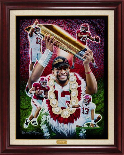 """""""Mahalo, Tua!"""" - Limited Edition Canvases - Alabama Football"""