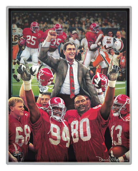 Metallic Art Prints - Set #1 - Alabama Football