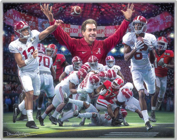 NEW! - Metallic Art Prints - Set #2 - Alabama Football