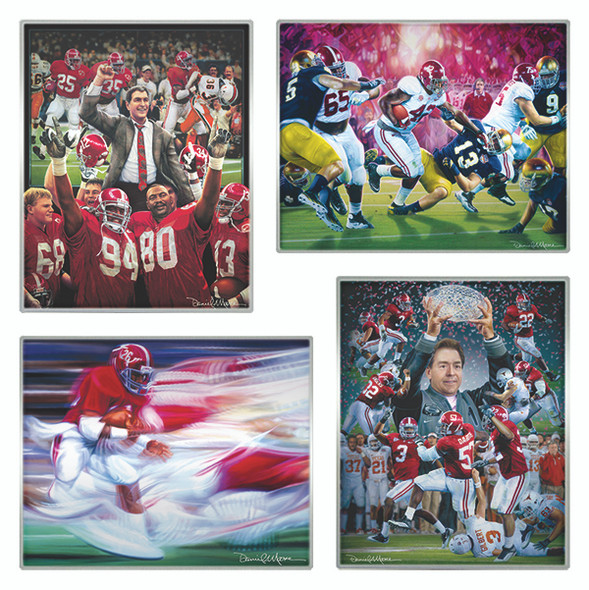 NEW! - Metallic Art Prints - Pick 4 - Alabama Football