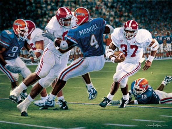 """Rebirth in the Swamp"" - Collegiate Classic 8x10 (Unframed) - Alabama Football vs. Florida 1999"