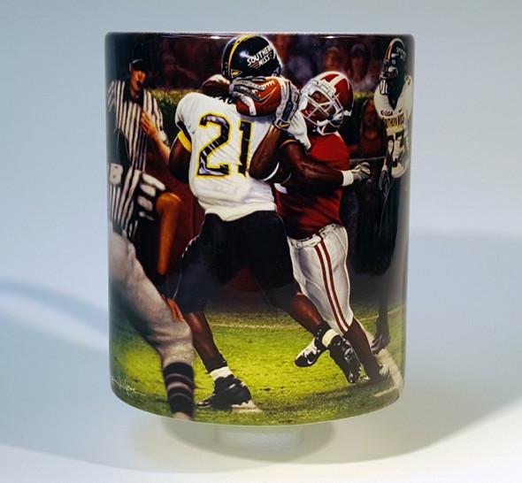 """The Catch"" 11oz Beverage Mug - Alabama Football vs. Southern Mississippi 2005 (Tyrone Prothro)"