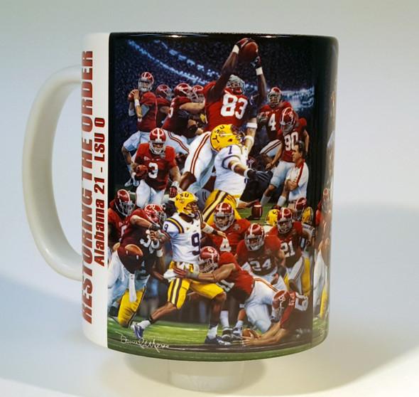 """""""Restoring the Order"""" 11oz Beverage Mug - Alabama Football"""