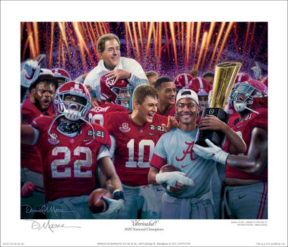 """Unrivaled!"" - Collegiate Classic 8x10 - Alabama Football 2020 National Champions"
