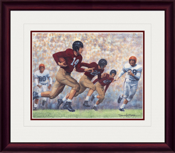 Shown in our Mahogany frame with White/Crimson matting