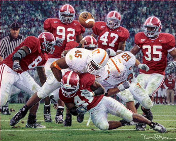 """Rocky Stop"" - Collegiate Classic 8x10 - Alabama Football vs. Tennessee 2005"