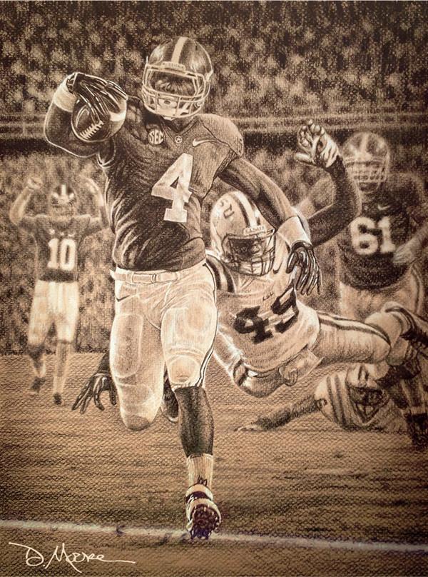 """Death Valley Drive"" - Pencil Drawing - Alabama Football vs. LSU 2012"