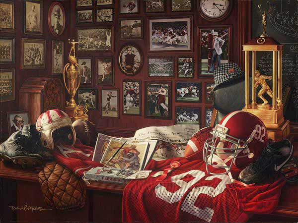 """Crimson Legacy"" - Collegiate Classic 8x10 (Alabama Football)"
