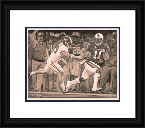 """""""The Runback"""" - Pencil Drawing - Auburn Football vs. Alabama 2013"""
