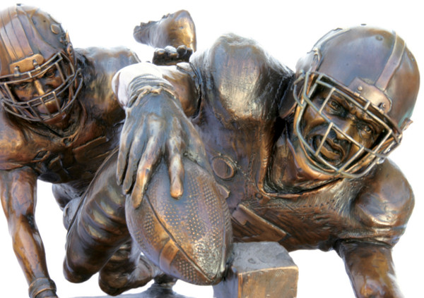"""Finish!"" - Life-Size - Bronze Cast - Alabama Football 2015 National Champions (Kenyan Drake)"