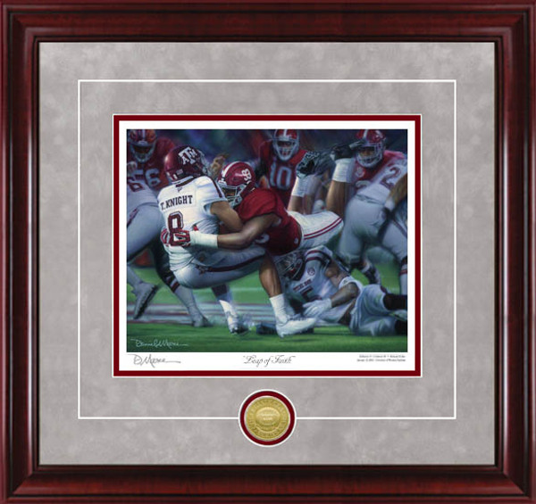 """Leap of Faith"" - Collegiate Classic 8x10 (Alabama Football vs. Texas A&M 2016)"