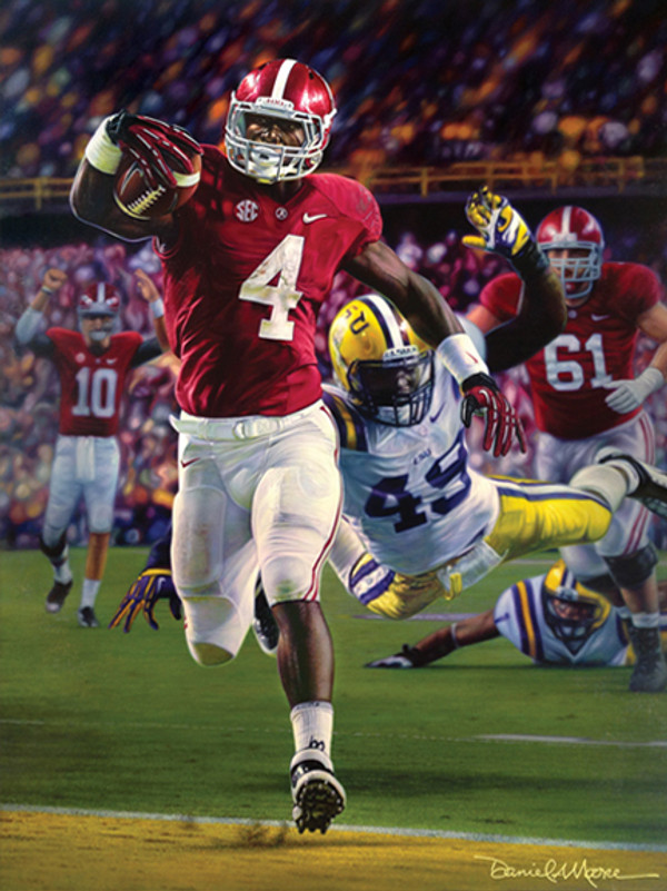"""Death Valley Drive"" - Canvas Editions - Alabama Football vs. LSU 2012"