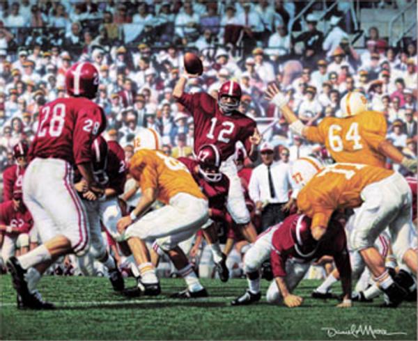 """Third Saturday Classic"" - Canvas Editions - Alabama Football vs. Tennessee 1962 (Joe Namath)"