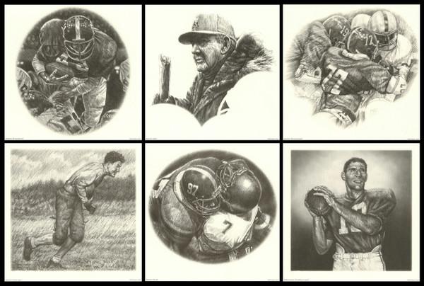 Portfolio Series #1 - Alabama Football Pencil Drawing Prints