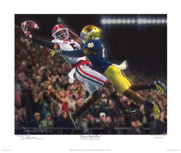 """Glory in South Bend"" - Georgia Football vs. Notre Dame 2017 - Fine Art Editions"