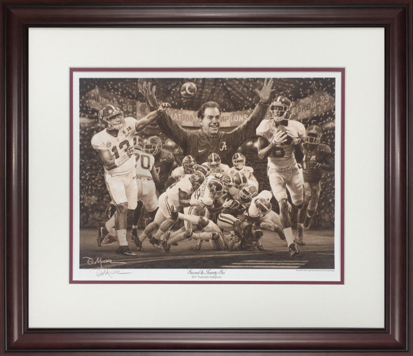 """Second & Twenty-Six"" - Pencil Drawing - Alabama 2017 National Champions-Sketch Print"