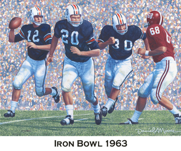 Iron Bowl Gold Prints  - Auburn Football vs. Alabama