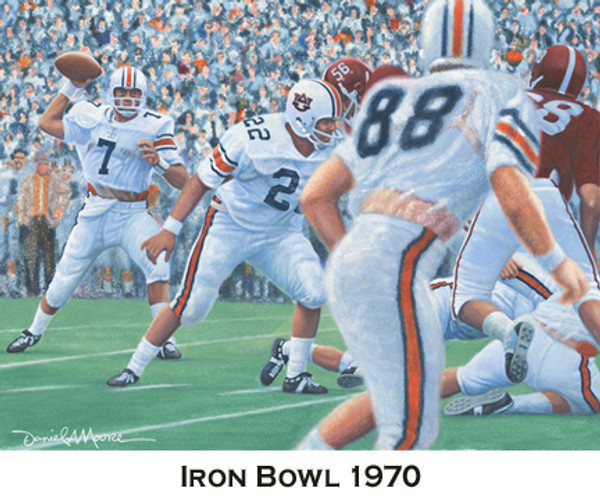 Iron Bowl Gold Prints  - Auburn Football vs. Alabama