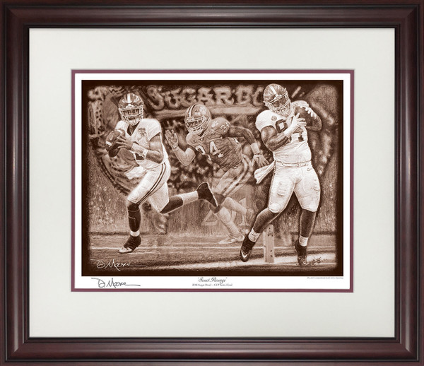 """Sweet Revenge"" - Pencil Drawing - Alabama vs. Clemson - CFP Semi-Finals - 2018 Sugar Bowl"