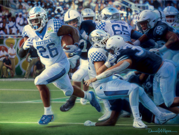 """The Breakthrough"" - Collegiate Classic 8x10 - 2018 Kentucky Football"