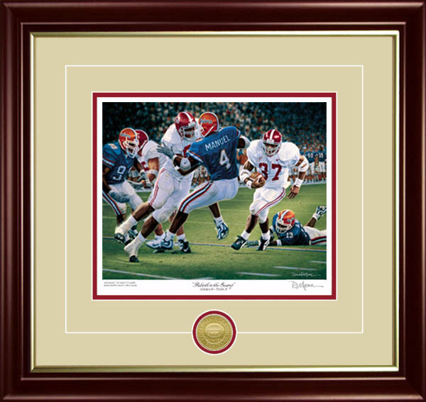"""Rebirth in the Swamp"" - Framed Collegiate Classic 8x10 - Alabama Football vs. Florida 1999 - 20th Anniversary Special #1"
