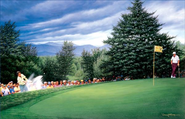 """Green At 18"" - 1985 PGA Championship (Hubert Green)"