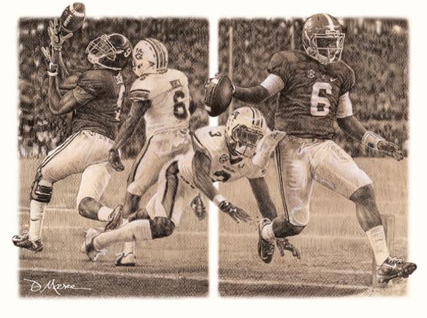 """The Game Changers"" - Pencil Drawing - Alabama Football vs. Auburn 2014"