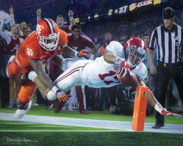 """Finish!"" - Print Editions - Alabama Football 2015 National Champions (Kenyan Drake)"