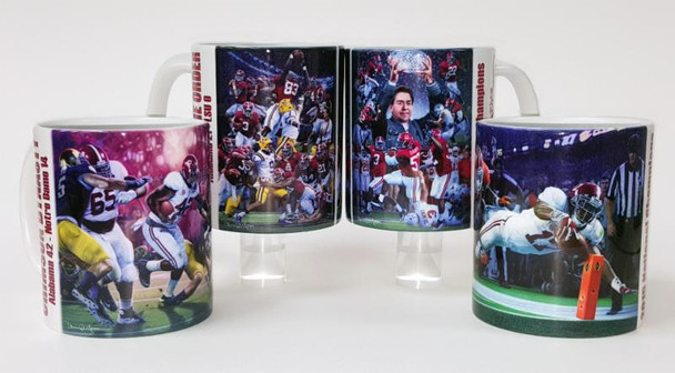 Saban Alabama Football Championships Mug Collection