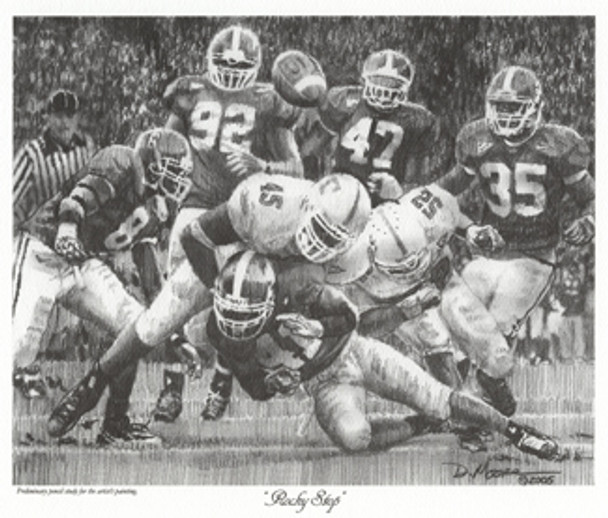 """Rocky Stop"" - Pencil Drawing - Alabama Football vs. Tennessee 2005"