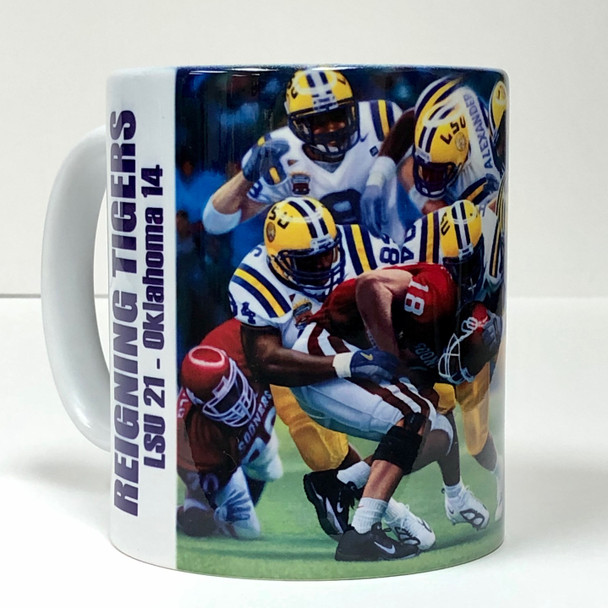 """Reigning Tigers"" 11oz Beverage Mug (LSU Football)"
